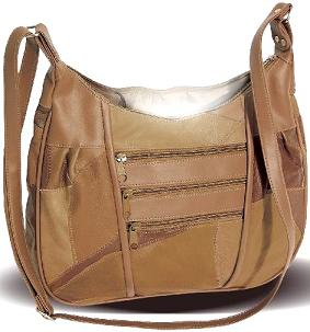 Tan Handbag With Inner Light
