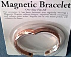 Magnetic Copper Bracelet, Carded Packaging