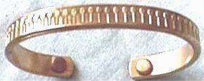 Magnetic Copper Bracelet, Front View