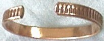 Magnetic Copper Bracelet, Inside View