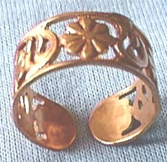 Solid Copper Floral Band