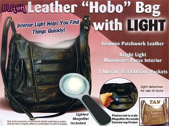 Lighted Handbag With Magnifier