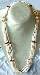 6-Strand Long Pearl Necklace