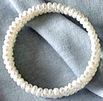 Spiral Pearl Bracelet. Side View