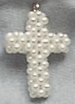 Pearl Cross Charm/Pendant