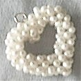 Pearl Heart Charm/Pendant