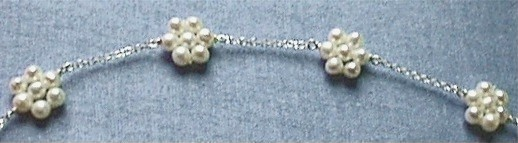 Pearl Daisies on Silver Chain
