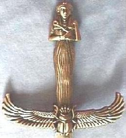 Egyptian Knife, Handle and Hand Guard: Front