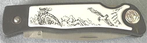 Hunting Pocket Knife. Closed