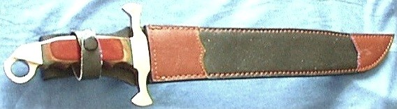 Minisword in Leather Sheath