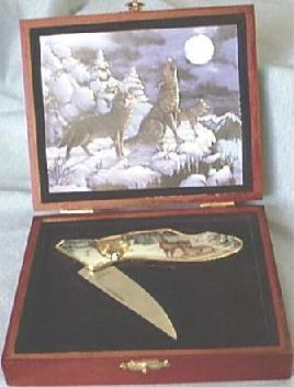 Hunting Knife in Fitted Case